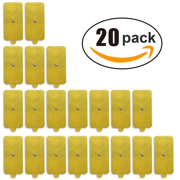 20-Pack of Jumbo-Sized Replacement TENS Pads-0